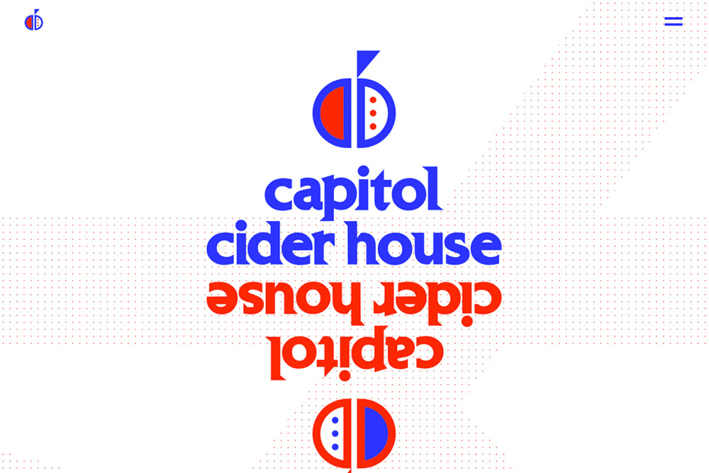 Screenshot of Capitol Cider House website