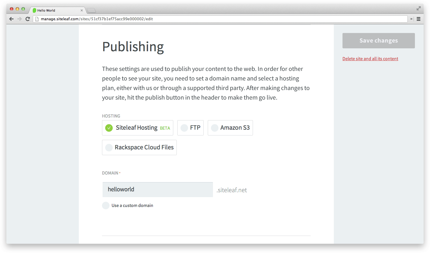 publishing-settings