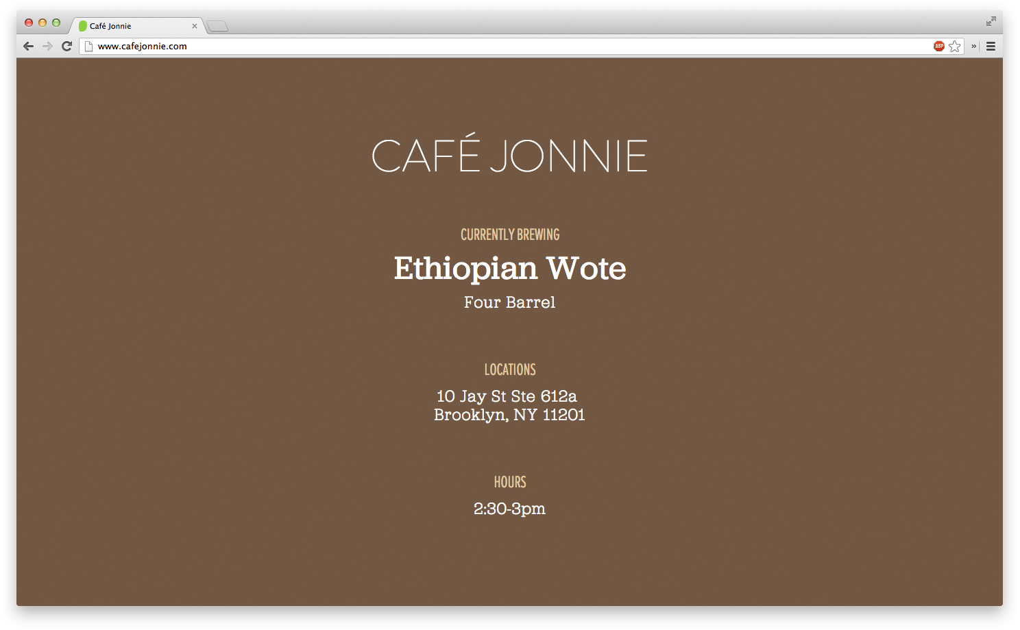 cafe-homepage